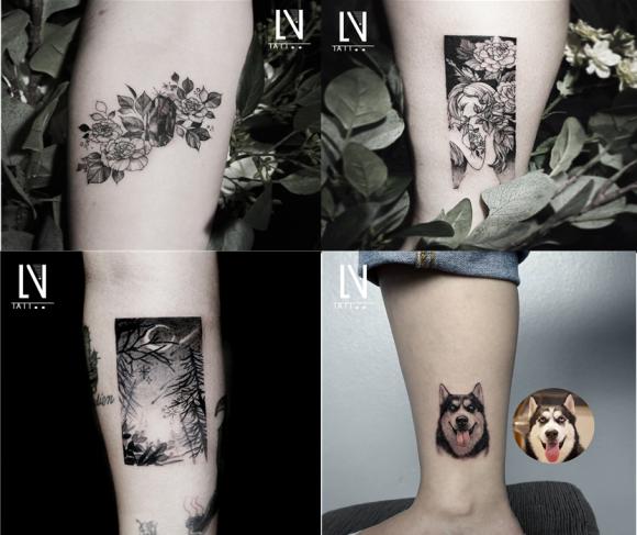 """韩国纹身店攻略 弘大超人气纹身店""""lena tattoo""""图片"""